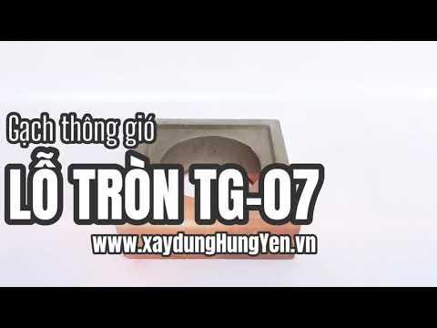 Gạch Thông Gió Lỗ Tròn TG-07 | Gạch Bông Gió Tại Hưng Yên | Gạch ô Thoáng Trang Trí Tại Hưng Yên
