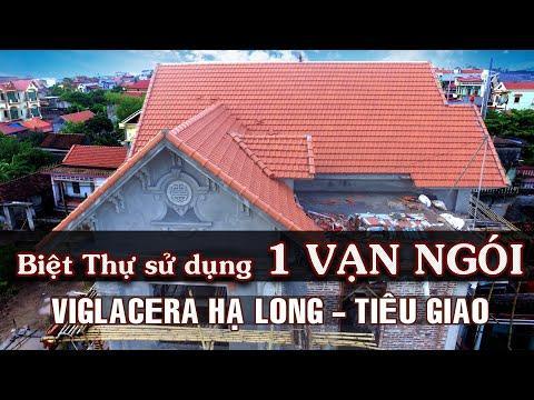 Biệt Thự Mái Thái Sử Dụng 1 Vạn Ngói Lợp 22v/m Viglacare Hạ Long - Tiêu Giao   Gạch Ngói Hạ Long  