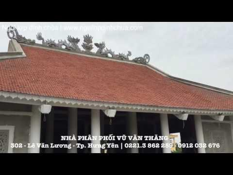 Mẫu Ngói Sò Lợp đình Làng | Ngói Lợp đình Chùa | Www.ngoilopdinhchua.com
