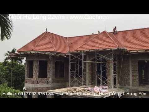 Biệt Thự Mái Thái | Ngói Hạ Long 22v/m | Www.GachngoiHaLong.vn | Xây Dựng Hưng Yên