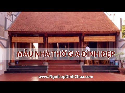 Mẫu Nhà Thờ Gia đình đẹp | Ngói Lợp Nhà Thờ | Www.ngoilopdinhchua.com