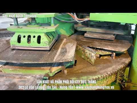 Sản Xuất Gạch Lát Vỉa Hè Terrazzo Tại Kho Hàng Cty Đức Thắng
