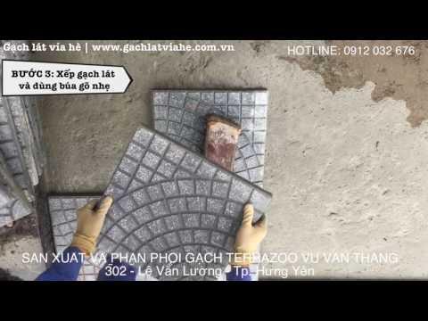 Hướng Dẫn Lát Gạch Terazoo - Gạch Lát Vỉa Hè - Gạch Chèn | Gạch Lát Vỉa Hè | Www.gachlatviahe.com.vn