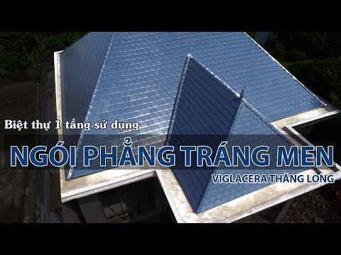 Ngói Phẳng Tráng Men Viglacera Thăng Long Cho Biệt Thự 1 Tầng Mái Thái | Viglacera Thăng Long