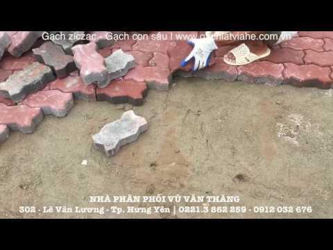 Lát Gạch Zizac - Gạch Con Sâu So Le | Gạch Lát Vỉa Hè | Www.gachlatviahe.com.vn
