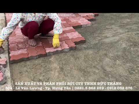 Gạch Lát Vỉa Hè - Gạch Con Sâu Tại đường Triệu Quang Phục - Tp. Hưng Yên | Gạch Lát Vỉa Hè .com.vn